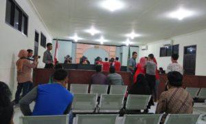 Suasana sidang saat pembacaa vonis kasus pembunuhan Rhoma Irama