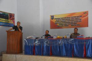 Wakil Wali Kota Bima, H. A. Rahman H. Abidin, SE, saat membuka acara bimbingan tehnik bagi penerima bantuan KUBE, Kamis.