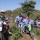 Sejumlah Trabaser saat mencoba jalur Pundu Nence Kelurahan Lelamase.