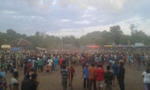 IPHUL: Reaksi massa di lapangan Fajar Tambe dipicu dua supporter PS Samudera.